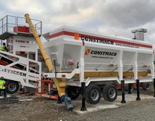 Constmach cement silo HORIZONTAL TYPE MOBILE CEMENT SILO